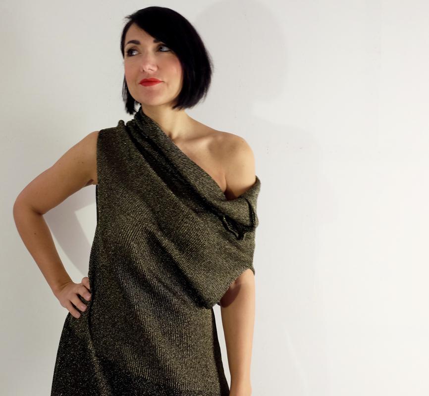ABITO VALENTINA<br />realizzata sartoriale in maglia di lana