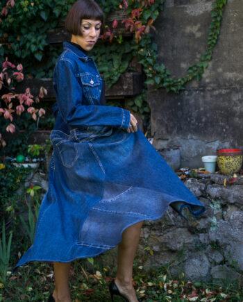 Cappotto jeans Ilaria